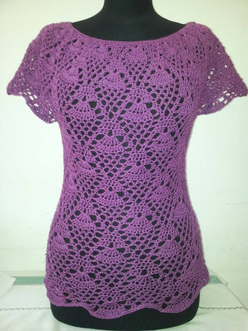 this is my finished raglan blouse