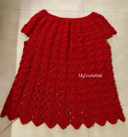 Crochet Blouse in Red