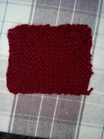 i have did as u told 20 rows and initialy i knitted 18 stiches with us 13 straight needle