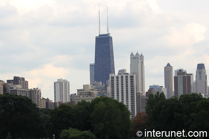 View on John Hancock Center from Lincoln Park