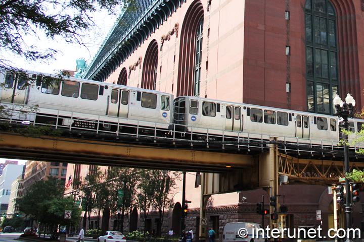 CTA Blue Line train in Chicago