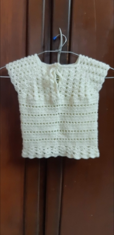 Made this beautiful top with given pattern