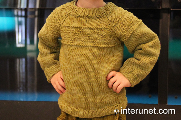 Boy Sweater Knitting Pattern : How to knit a sweater for a child interunet