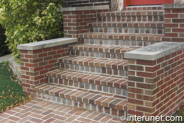 Brick Steps To The House Entrance