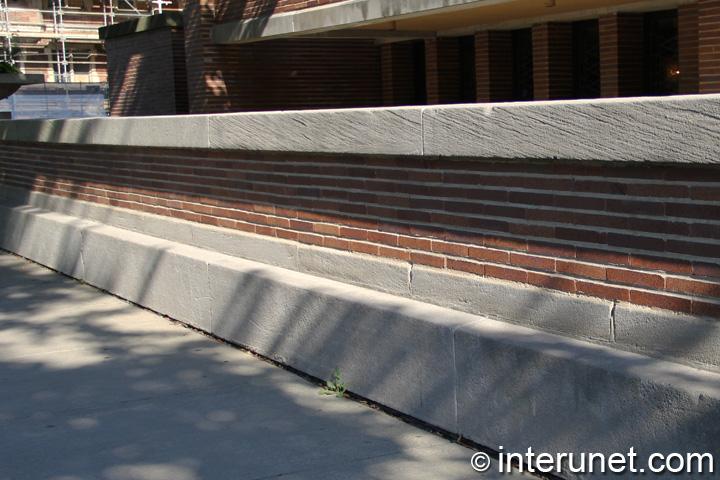 concrete brick fence combination