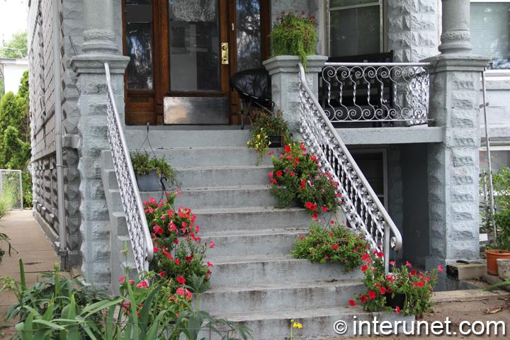 concrete-porch-with-stylish-railing