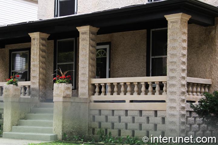 Concrete Pillars For Porch : Covered concrete front porch interunet