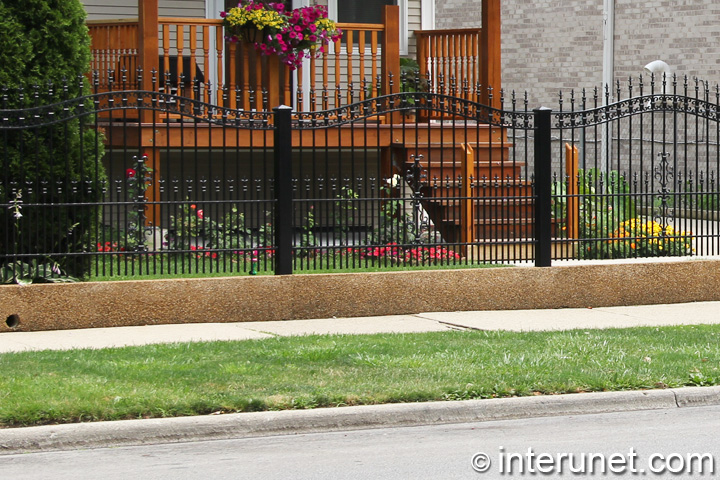 decorative steel fence painted black | interunet
