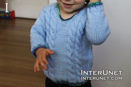 How to knit a sweater for baby or toddler - video tutorial with ...