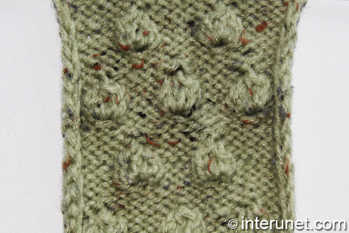 How to knit simple berry pattern interunet