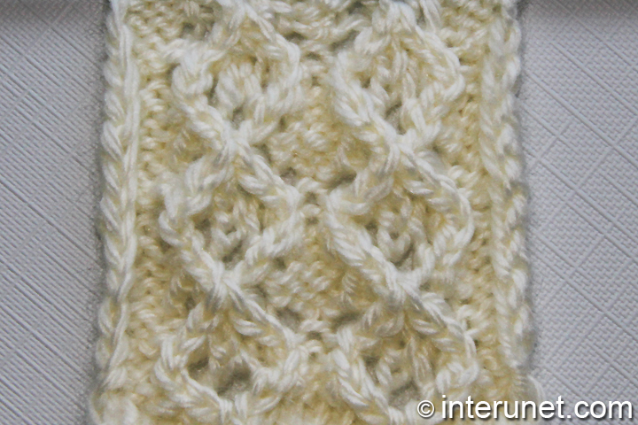 How to knit elegant and fancy diamond pattern interunet