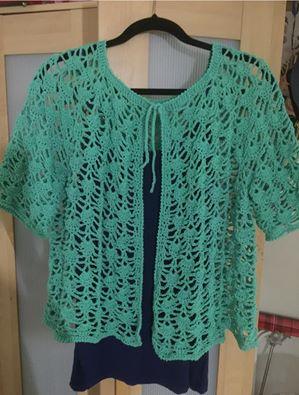 crochet-cardigan-green