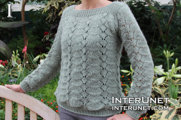 How to knit lace sweater interunet