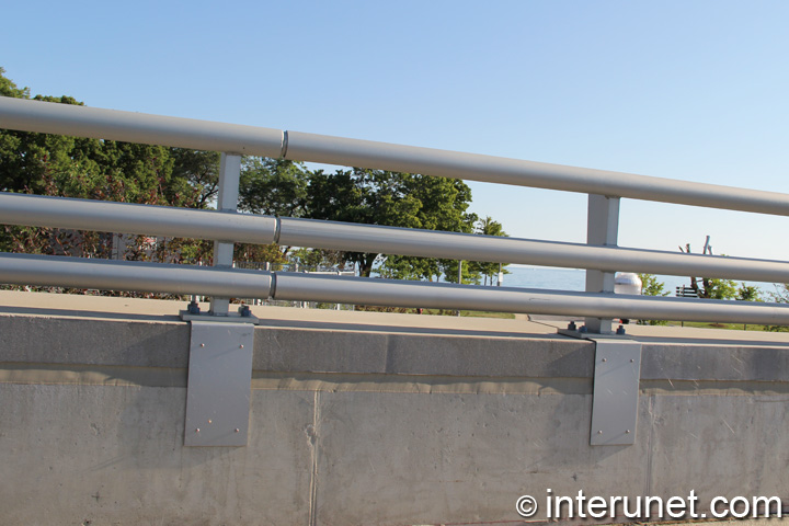 metal pipes horizontal fence