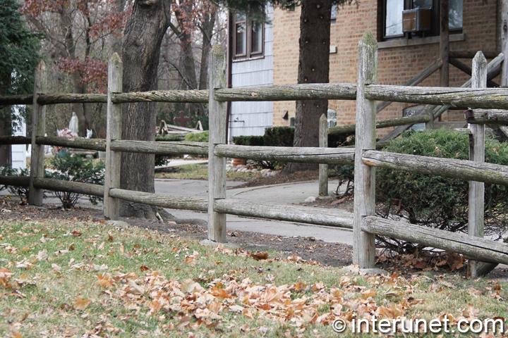 old-three-horizontal-rails-fence