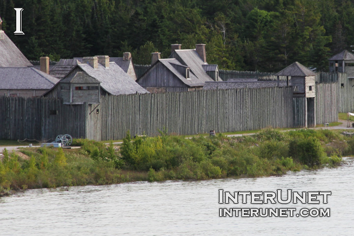 Fort-Michilimackinac-wood-fence-view-from-Mackinac-Bridge