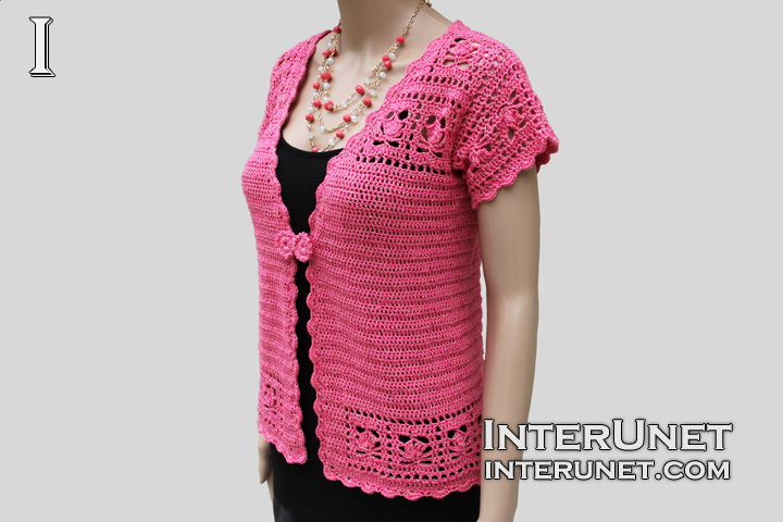 Free Crochet Pattern Short Sleeve Sweater : short sleeve crochet cardigan sweater Car Tuning