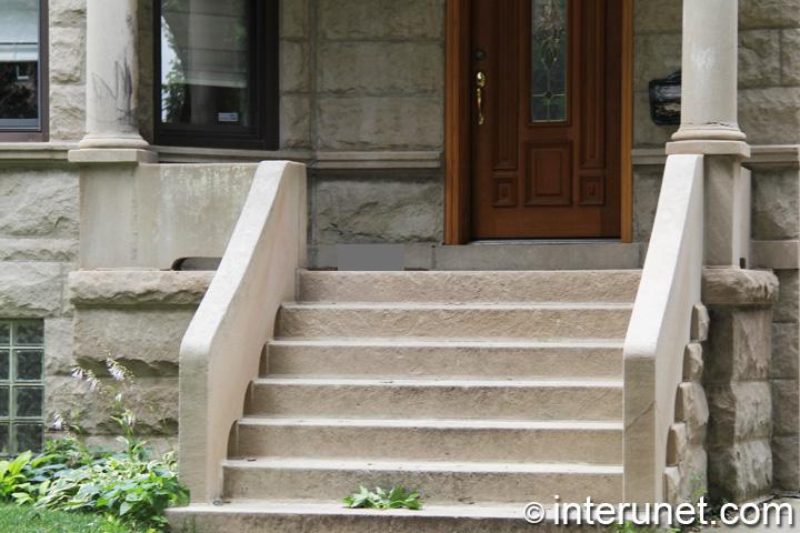 Solid concrete front porch interunet for Concrete front porch paint ideas