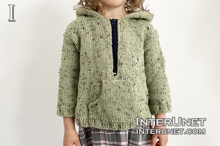 knit hoodie sweater for child pattern