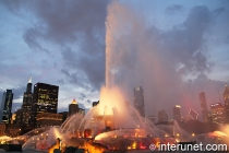 buckingham fountain night view