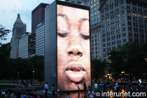 Crown Fountain with video
