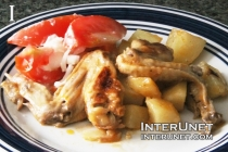 baked-chicken-wings-with-potato