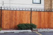cedar-fence-with-metal-posts-and-frame