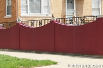 concrete-fence-painted-red