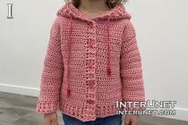 crochet kids hoodie