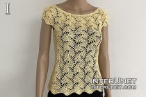 crochet lace top leaf pattern free