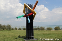 """Transcendent -3PG"" sculpture in Chicago by Ray Katz"