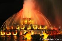 Amazing view of Buckingham Fountain at night