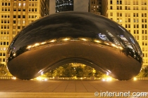 Cloud Gate or The Bean in Chicago