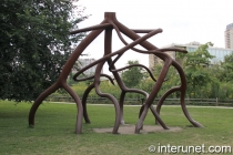 Steelroots sculpture in Chicago by Steve Tobin