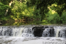 Waterfall glen in Darien, Illinois