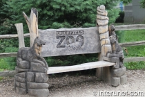 bench-with-wood-animals-in-Brookfield-zoo