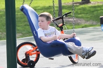 child-on-a-swing