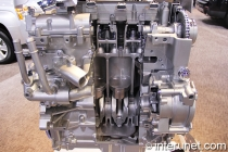 partially opened internal combustion engine