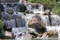 waterfall-in-Chicago-botanic-garden
