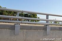 metal pipes horizontal fence