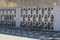 older fence made from concrete blocks
