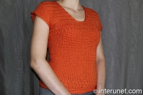 women's short-sleeve sweater crochet pattern