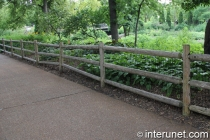 three rails fence with metal screen