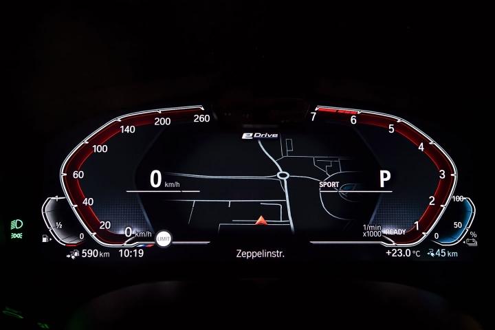 2021 BMW 545e xDrive Sedan instrumental panel
