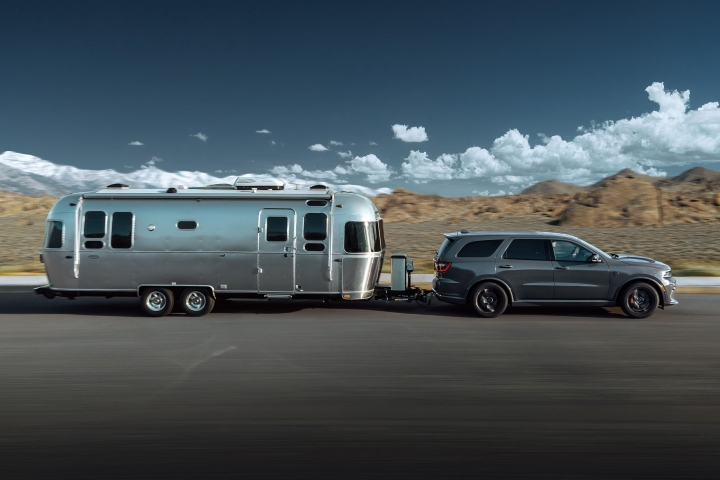 2021 Dodge Durango SRT Hellcat hauling travel trailer