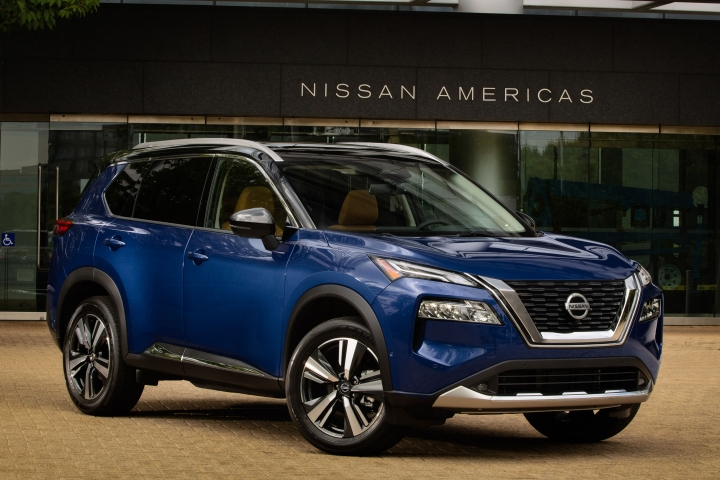 2021 Nissan Rogue front side blue