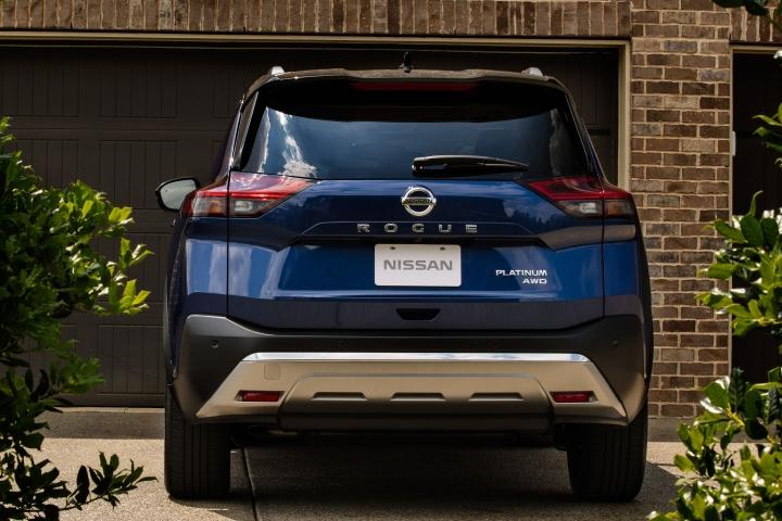 2021 Nissan Rogue rear blue
