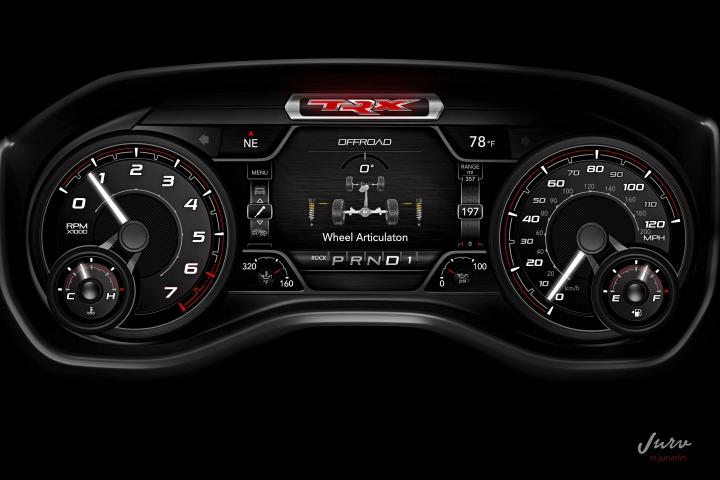 2021 RAM TRX dashboard