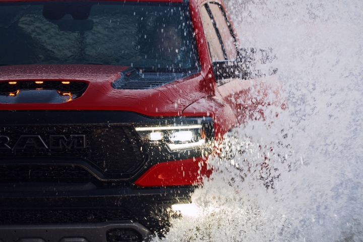 2021 RAM 1500 TRX crossing water