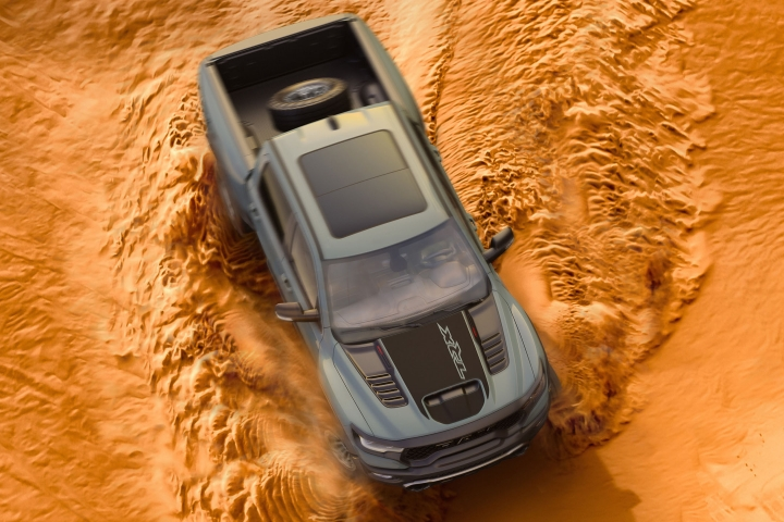 2021 RAM TRX driving in sand